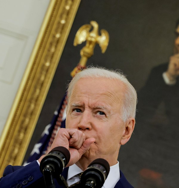 הנשיא ג'ו ביידן בבית הלבן, השבוע / צילום: Reuters, Carlos Barria