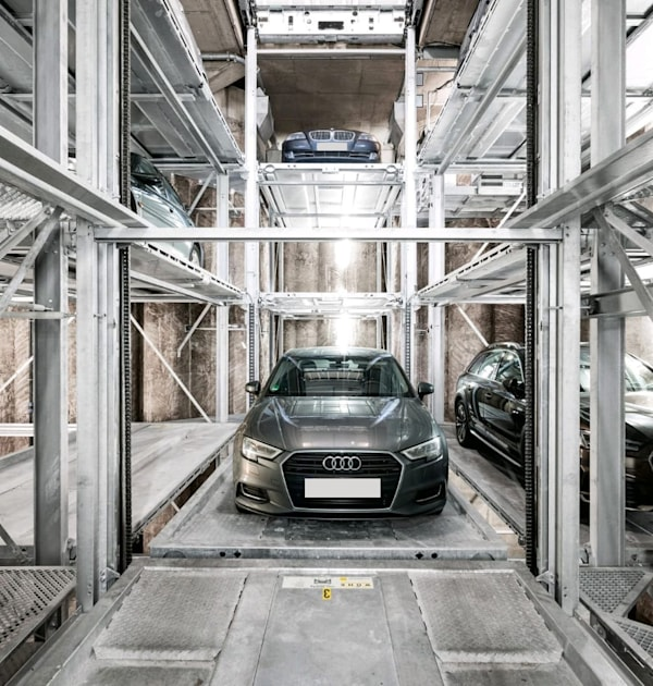 מתקן חניה. היזמים מבקשים למקסם את מספר החניות בבניין / צילום: פרומוט מתקני חניה