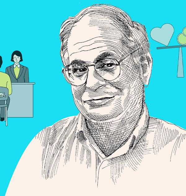 זוכה פרס נובל דניאל כהנמן ותובנותיו לגיוס עובדים / איור: גיל ג'יבלי