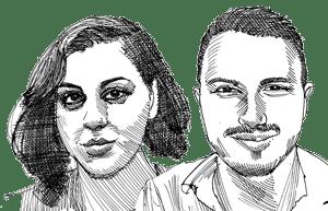 יהונתן חסון והדס חרוש / איור: גיל ג'יבלי