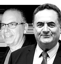 """ישראל כ""""ץ ונתן דטנר / צילום: אמיל סלמן-הארץ, יוסי כהן"""