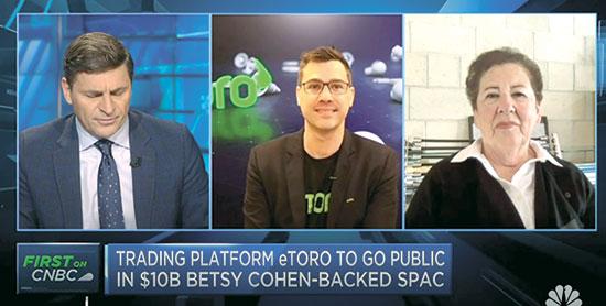 """כהן (מימין) ויוני אסיא מנכ""""ל איטורו בראיון ל־CNBC / צילום: צילום מסך מתוך ה־CNBC"""