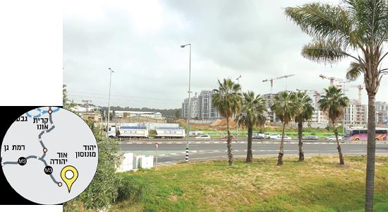 אור יהודה.  מפגש כביש 461 ורחוב יגאל אלון / צילום: איל יצהר