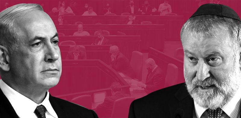אביחי מנדלבליט ובנימין נתניהו / צילום: אלכס קולומויסקי-ידיעות אחרונות