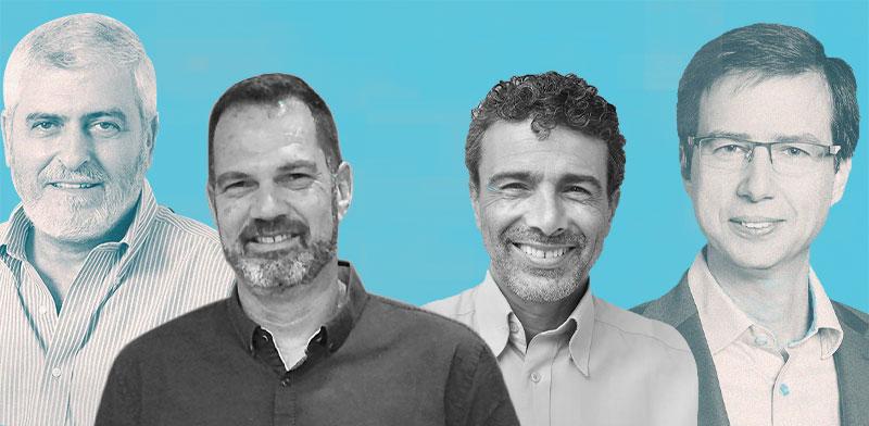 """חנן פרידמן, רון לוי, שיזם את השת""""פ, דב קוטלר ויו""""ר הוועד רוני גרפונקל / צילום: סיון פרג', ישיל שלמה"""