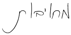 כתב היד של רן עוז