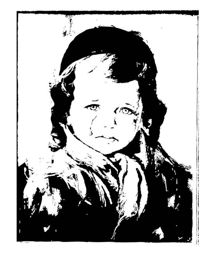 """ע""""פ """"הילד הבוכה"""" של ברונו אמאדיו / איור: אלישע נדב"""