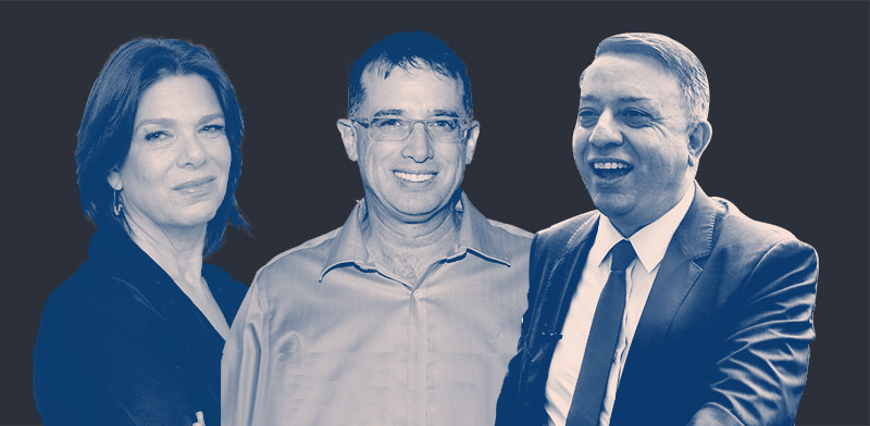 אבי גבאי, רן גוראון ואוסנת רונן / צילום: שלומי יוסף, איל יצהר, ענבל מרמרי