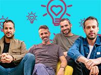 """מייסדי Venn ומייסדי קומיוניקס / צילום: יח""""צ, או קן תור"""