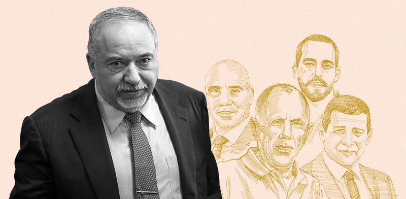 ליברמן וכוורת משרד האוצר / צילום: שלומי יוסף. איורים: גיל ג'יבלי