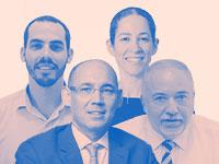 ליברמן, ירון, גרינברג וגרדוס / צילום: איל יצהר, בר אל, דוברות משרד האוצר, דוברות בנק ישראל