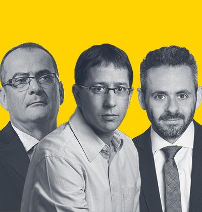 ירון דייגי, ניר כהן, דורון גינת / צילום: מיה כרמי דרור, ורדי כהנא, איל יצהר