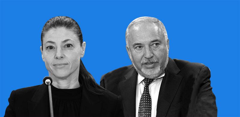 אביגדור ליברמן ומרב מיכאלי / צילום: המכון הישראלי לדמוקרטיה