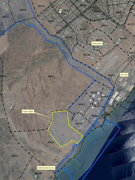 השטח בקו החוף באילת שצפוי לחזור למדינה / צילום: רשות מקרקעי ישראל