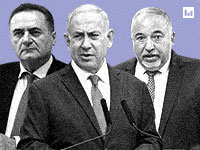 אביגדור ליברמן, בנימין נתניהו, ישראל כ''ץ / צילום: רפי קוץ, חיים צח-לע''מ