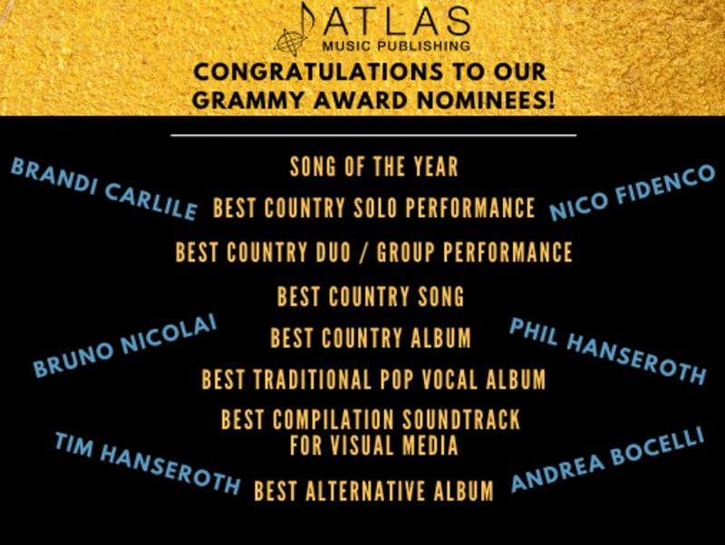 Atlas Writers 2020 Grammy Nominees