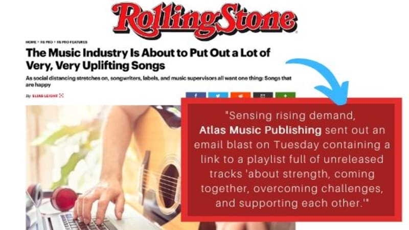 Rolling Stone Feature: The Music Industry Is About to Put Out a Lot of Very, Very Uplifting Songs
