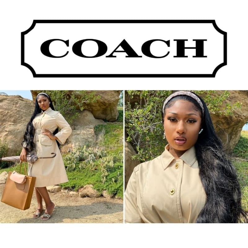 """Megan Thee Stallion Channeling Mean Girls' Regina George, in """"Coach Forever Season Two"""" Visual for #NYFW2021"""