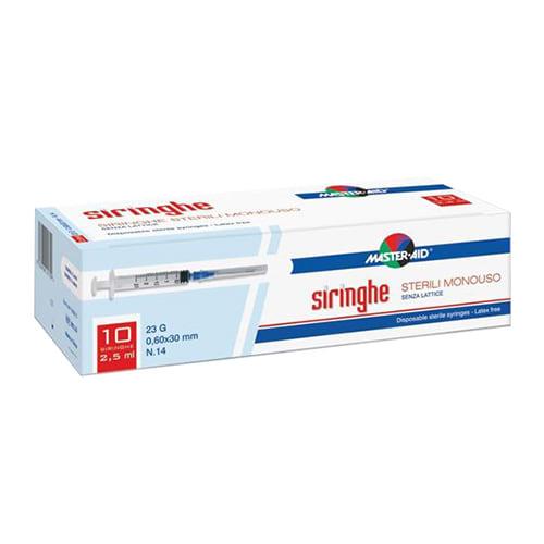 Master-Aid Siringhe Venipuntura 2,5 Ml 10  pezzi