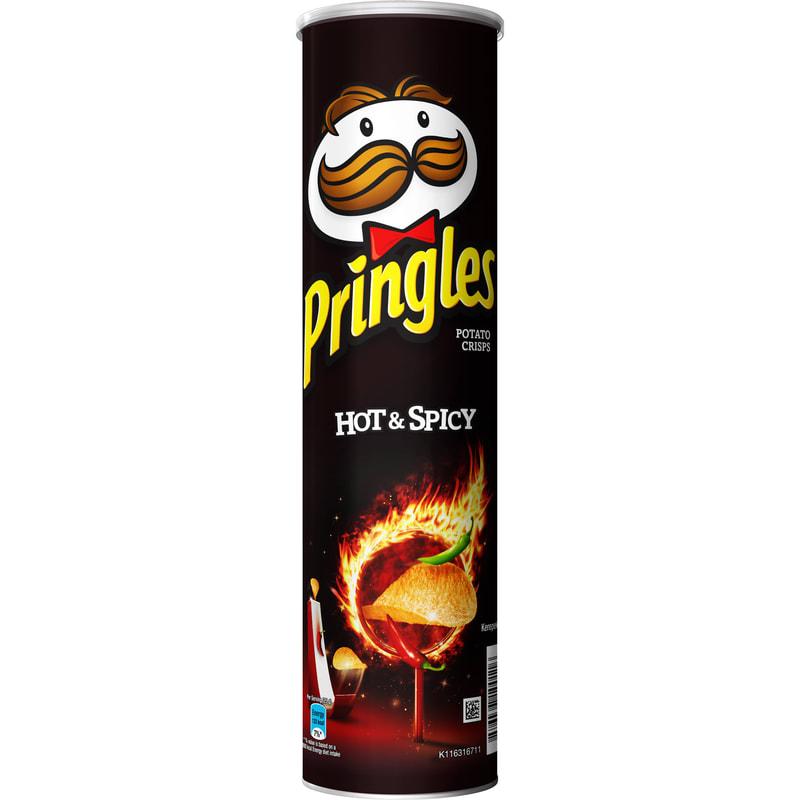 Čips Pringles Hot & Spisy 165gr