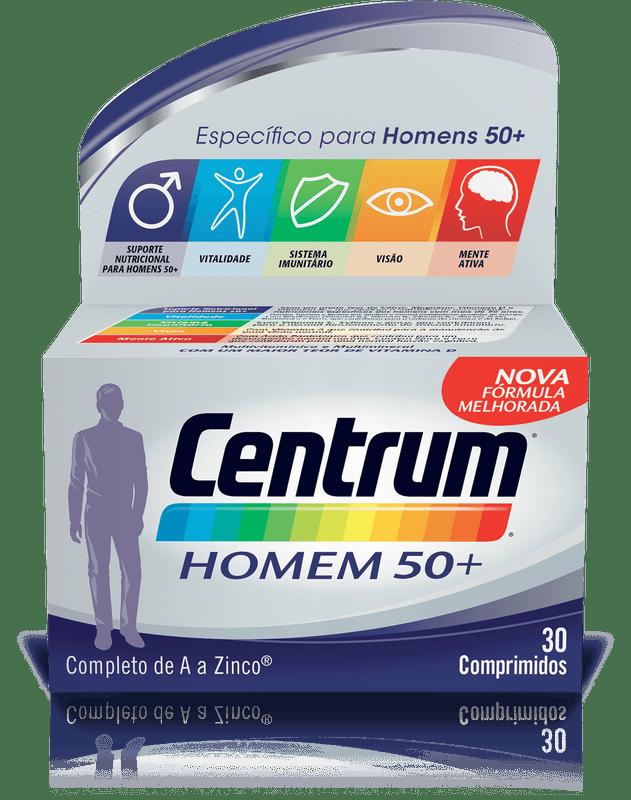 Centrum Homem 50+ Comp X 30 comp