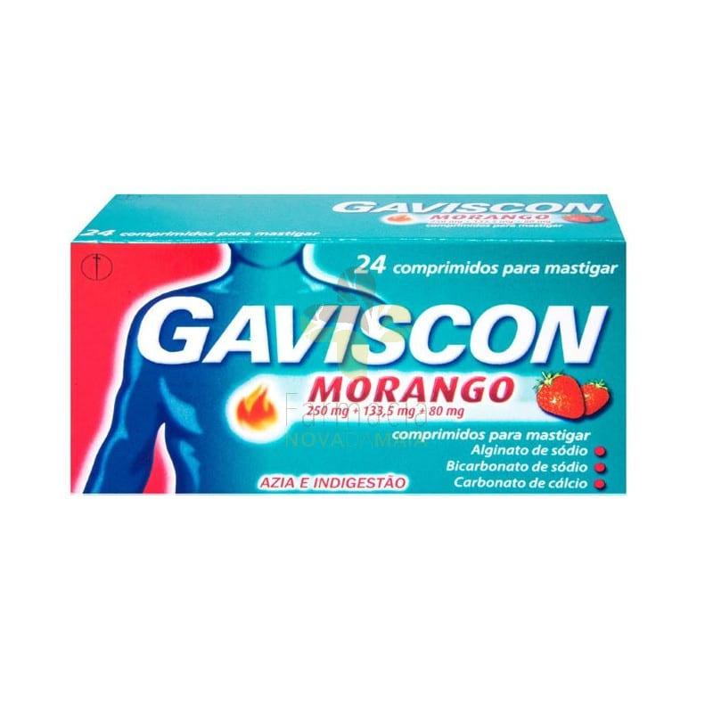 Gaviscon Morango x 24cp