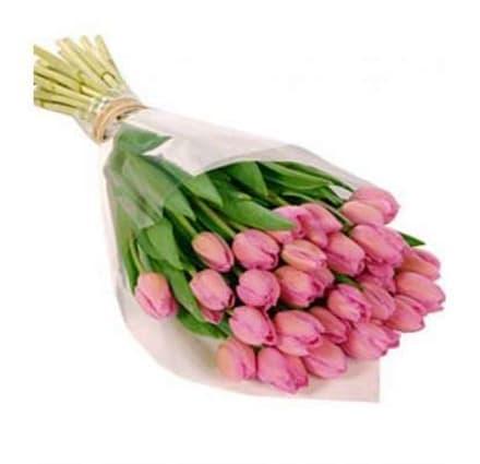 29 рожевих тюльпанів