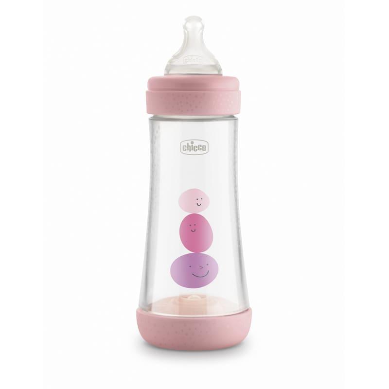 PERFECT 5 Biberon 300 ml - Flusso VELOCE rosa