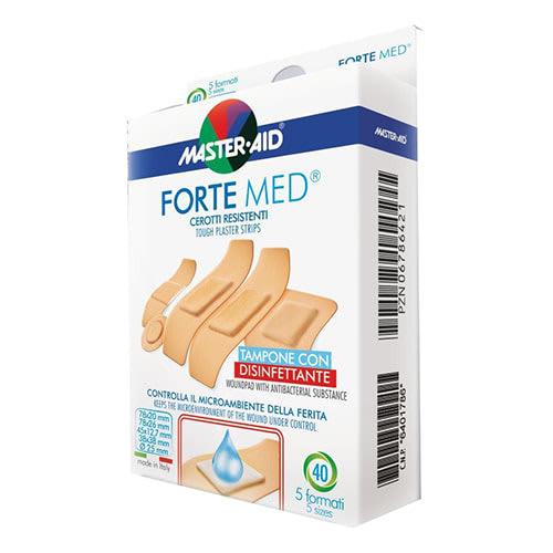 M-Aid Forte Med Cerotti Assortiti Con Tampone disinfettante 20 pezzi