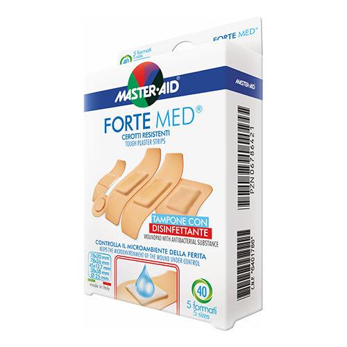 M-Aid Forte Med Cerotti Assortiti Con Tampone disinfettante - 40 pezzi