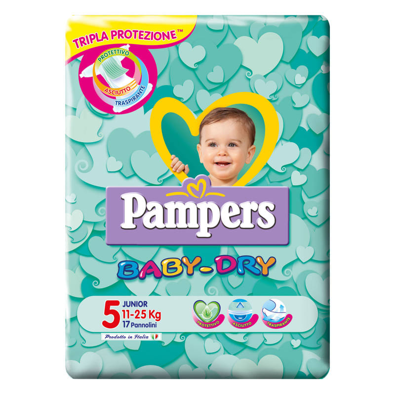 Pampers Baby Dry Junior 17 Pannolini