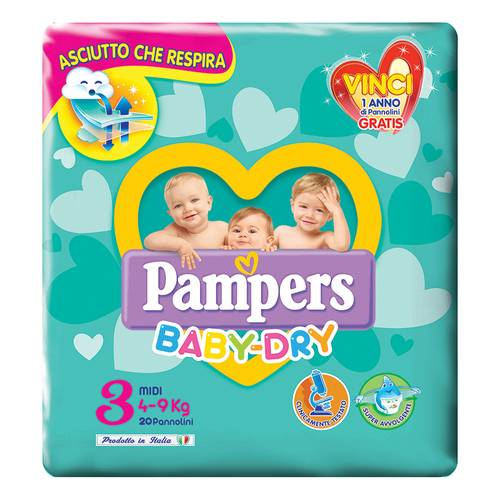 Pampers Baby Dry Midi20 Pannolini