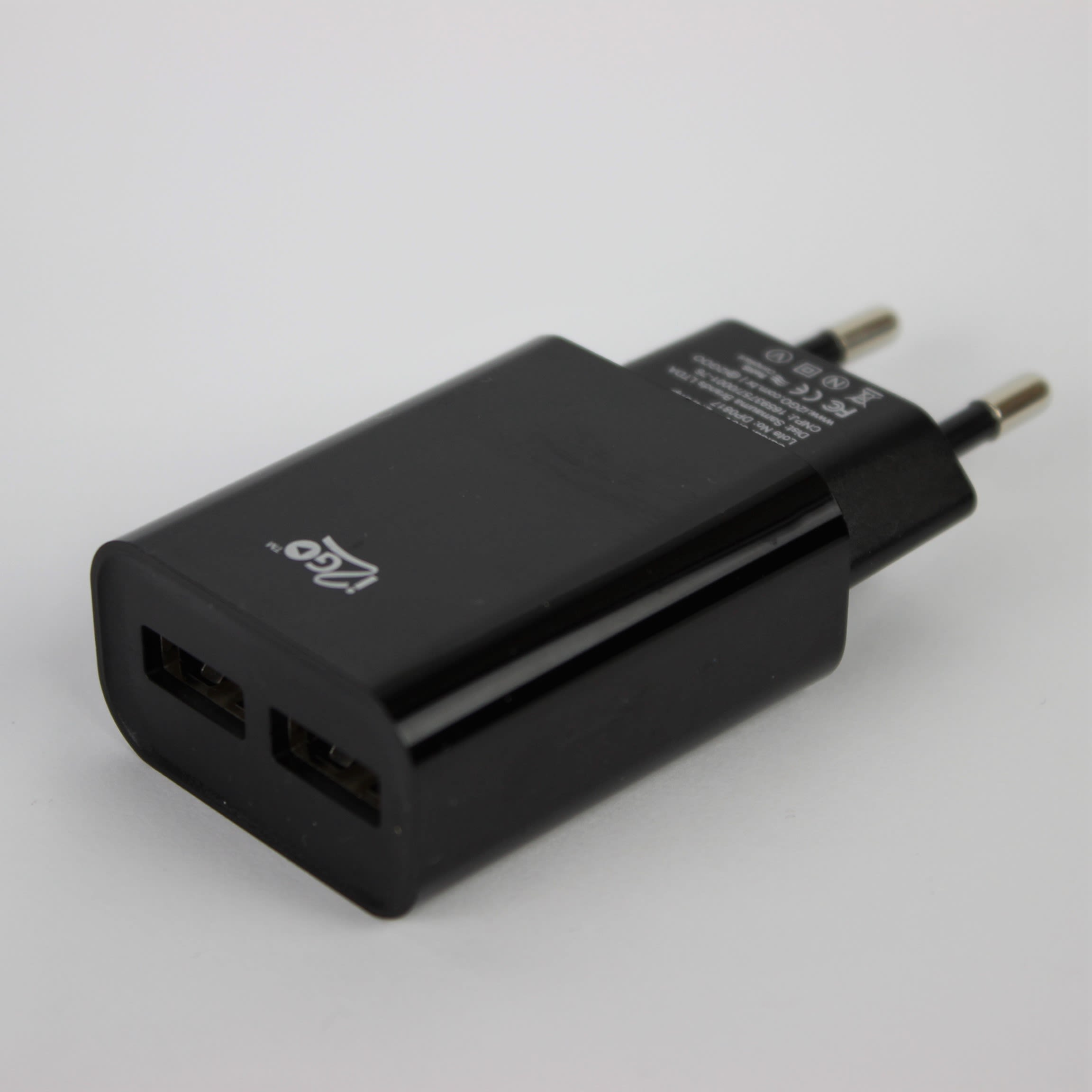 Carregador i2GO PLUS Parede 2 USB 2.4A - preto