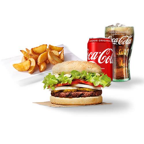 Menú individual burger