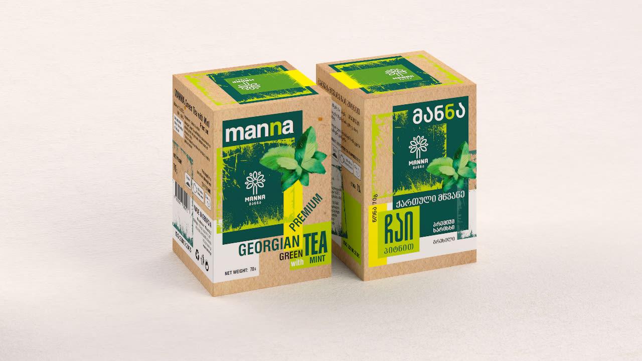 მწვანე ჩაი პიტნით 0,70გ - Green tea with mint 0.70 g