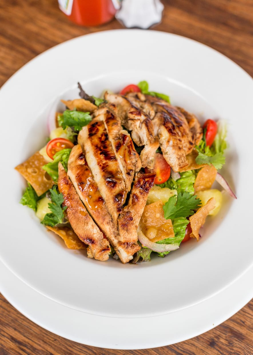 Caribbean Chicken Salad With Honey Mustard Dressing ♥