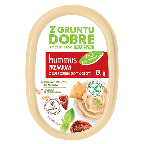 Hummus premium z suszonymi pomidorami 120 g