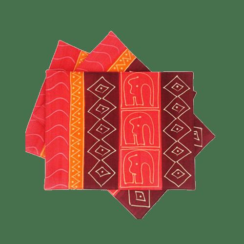 Due placemat - elefanti rossi
