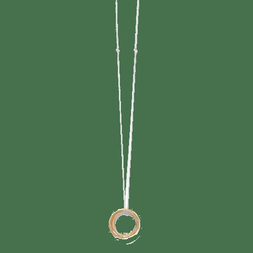 Collana Tre cerchi S, ciondoli placcati oro