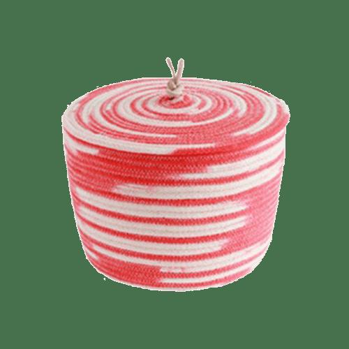 Ciotola in cotone con coperchio - rossa
