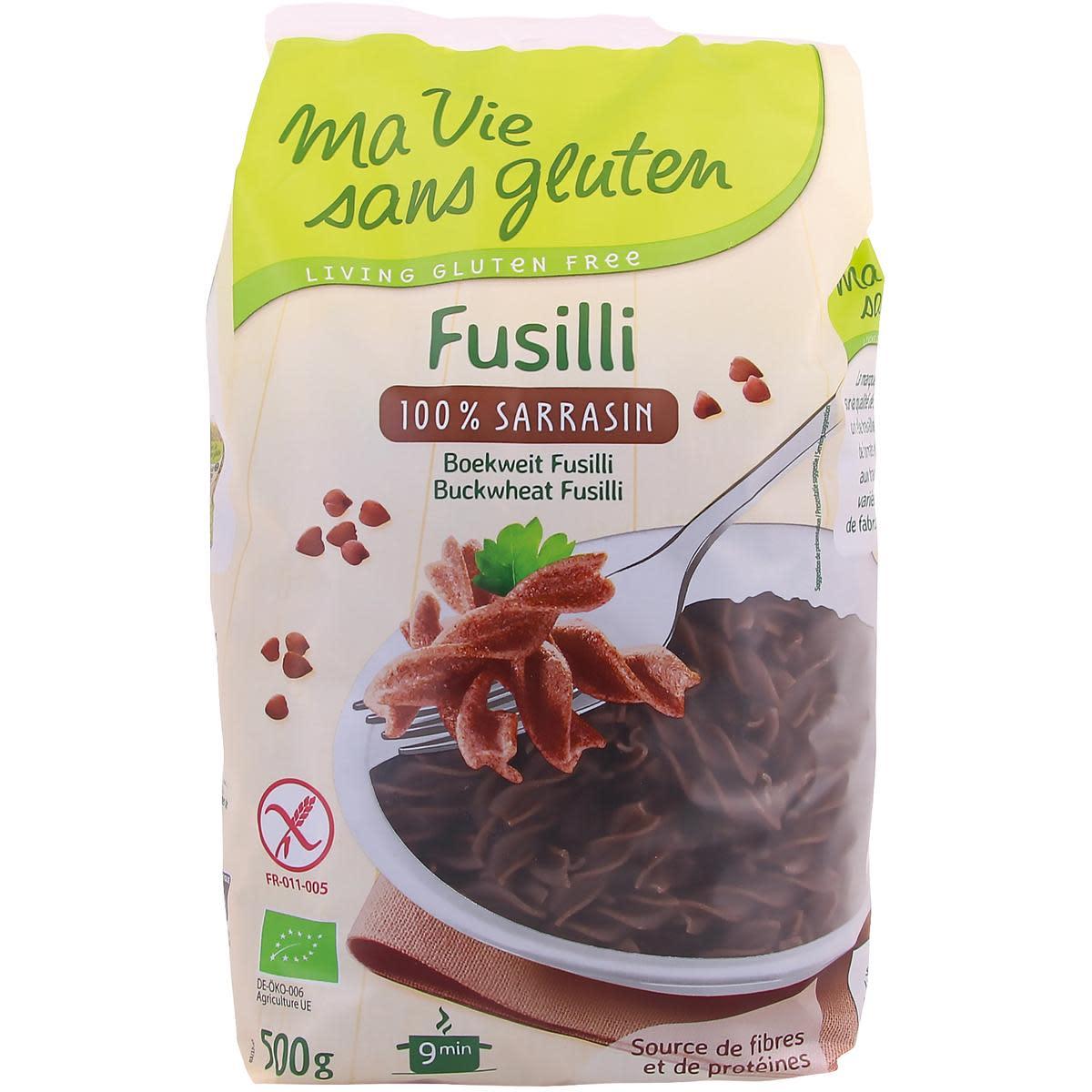 Ma vie sans gluten Fusili sarrasin 500g