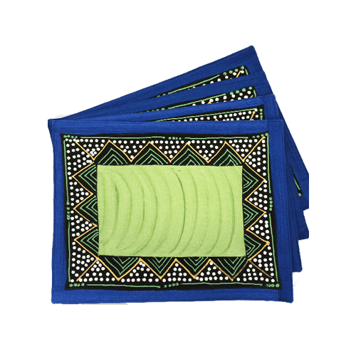Due placemat - ndebele blu e verde