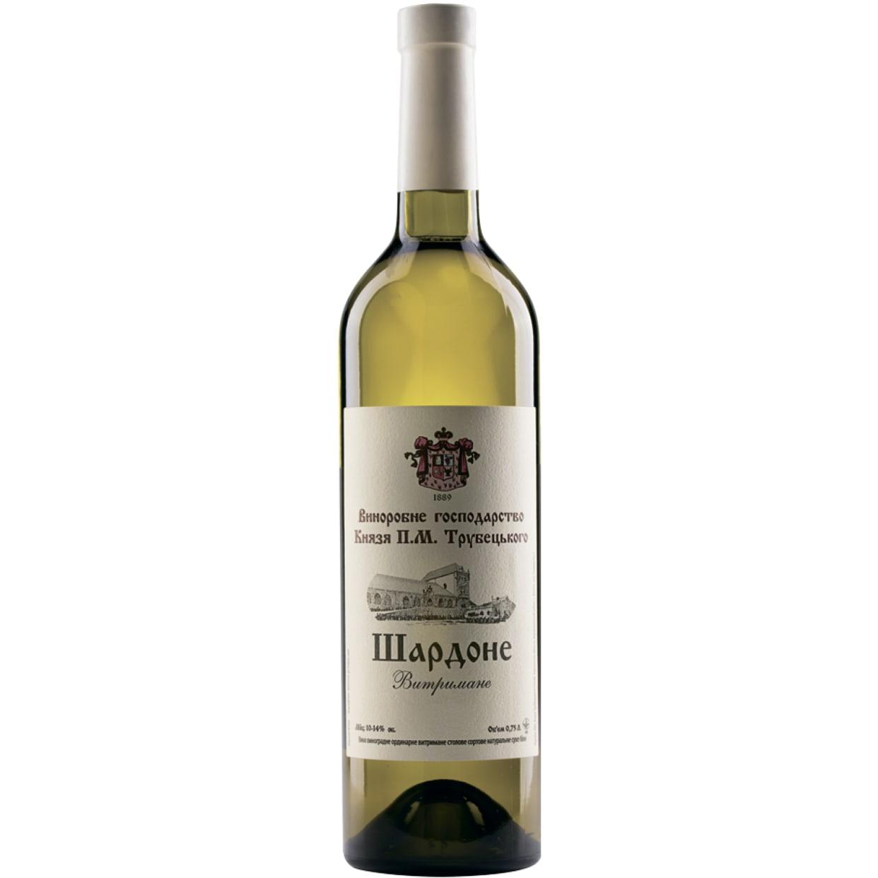 Вино Князь Трубецький Витримане Шардоне (0.75л)