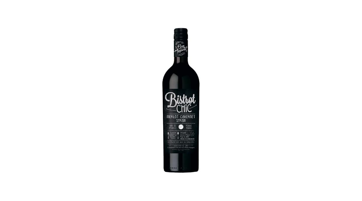 Вино Бістро Шик Мерло Каберне Сіра червоне сухе (0,75л)
