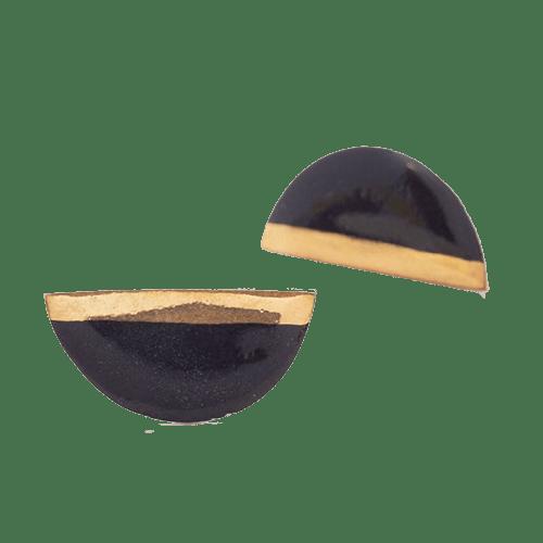 Orecchini Mezzaluna - neri