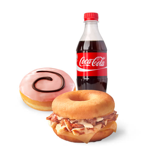 Brunch Gourmet Dunkin Sandwich Refresco