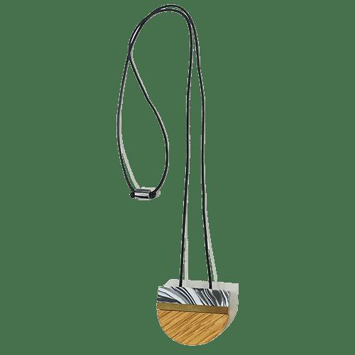 Collana semicerchio - marmo grigio