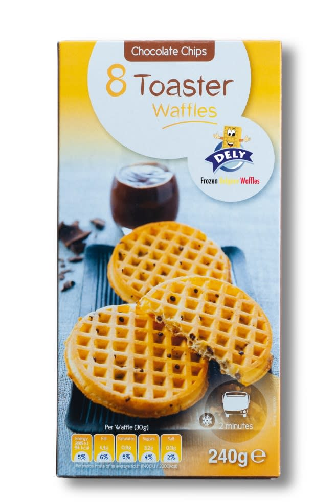 Dely 8 Toaster Chocolate Waffles 240G