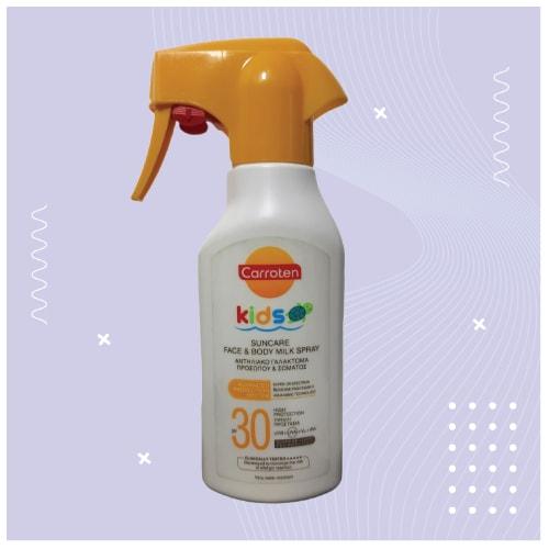 საბავშვო მზისგან დამცავი რძე სპრეი 200მგ SPF30
