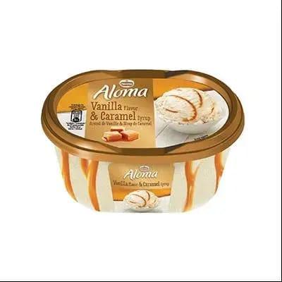 Inghetata Aloma cu vanilie si sirop de caramel, 1000ml